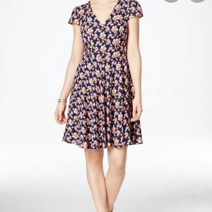 Betsey johnson floral fit n flare